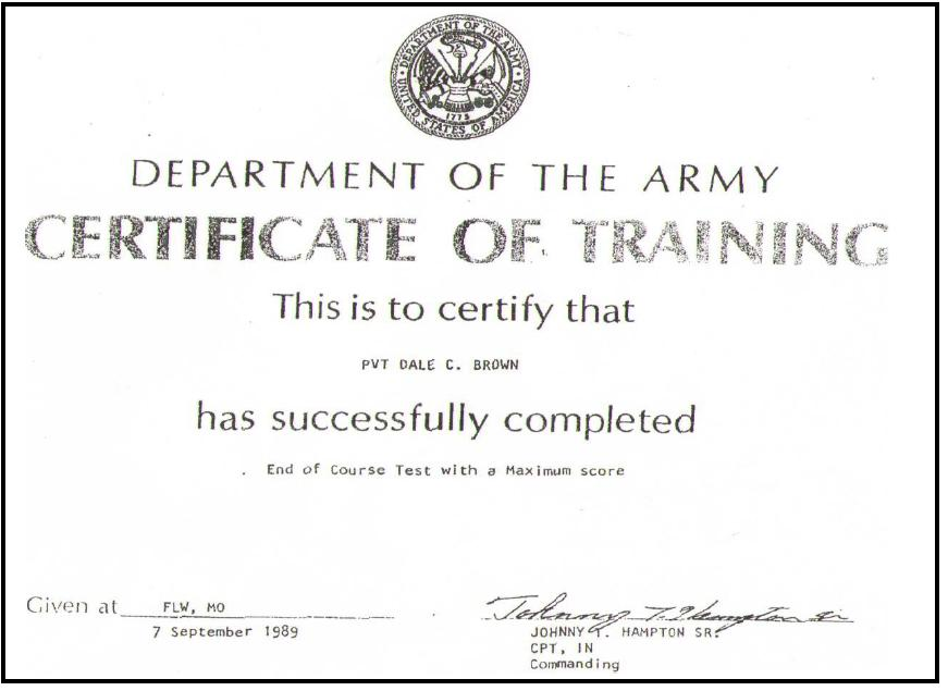 Army certificate of training template 28 images army certificate certificates yelopaper Gallery